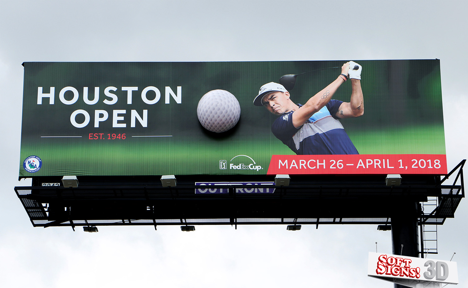 Houston Open Golf Ball by Soft Signs 3D