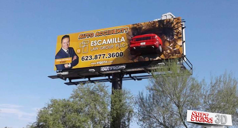 3D Billboard Mustang By Sof tSigns 3D - 3D Billboards