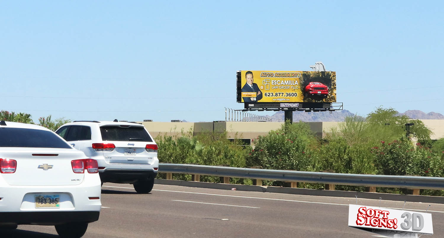 3D Billboard Mustang by Soft Signs 3D
