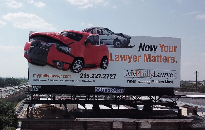 3D Billboard Crashed Car by Soft Signs 3D