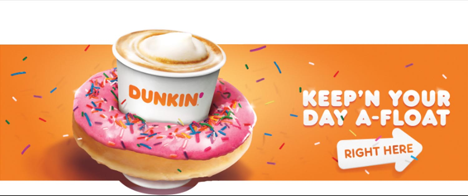 Dunkin Donuts 3D Creative Concept