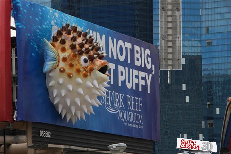 Shark Reef 3D Puffer Fish