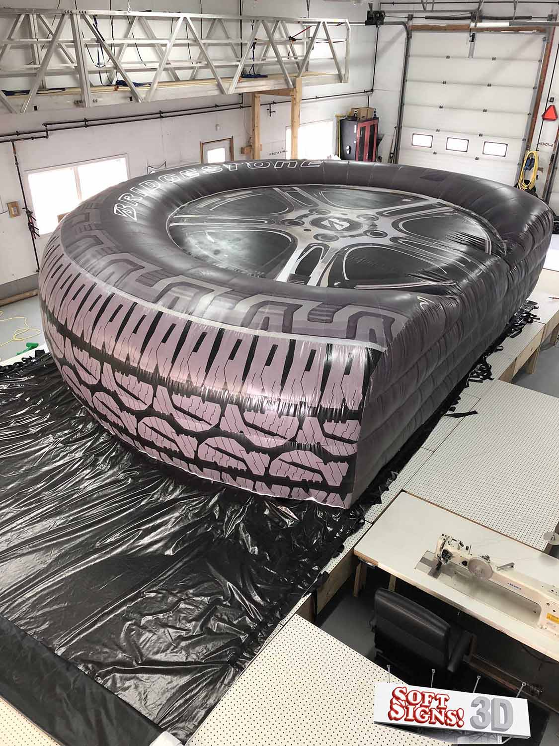 Bridgestone Tire 3D Billboard Install process