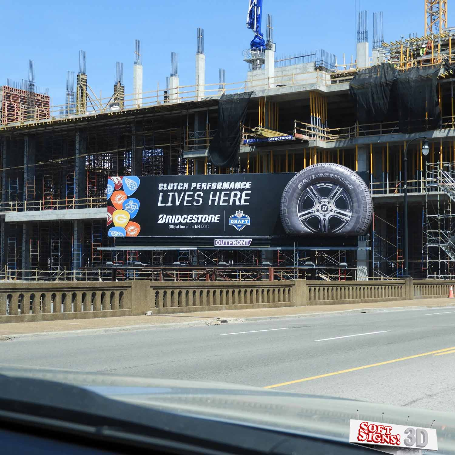 Bridgestone Tire 3D Billboard by Soft Signs 3D