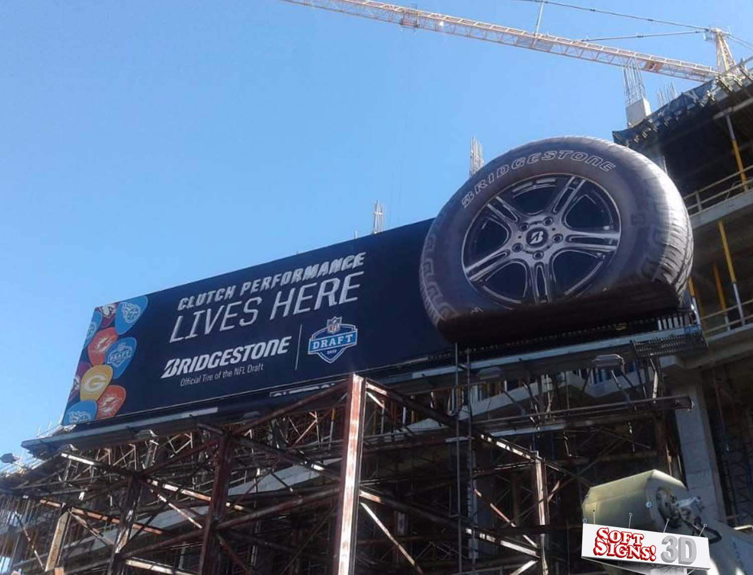 Bridgestone Tire 3D Vinyl Billboard by Soft Signs 3D