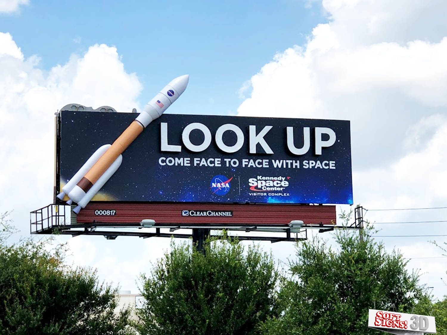 NASA 3D Rocket Billboard by Soft Signs 3D