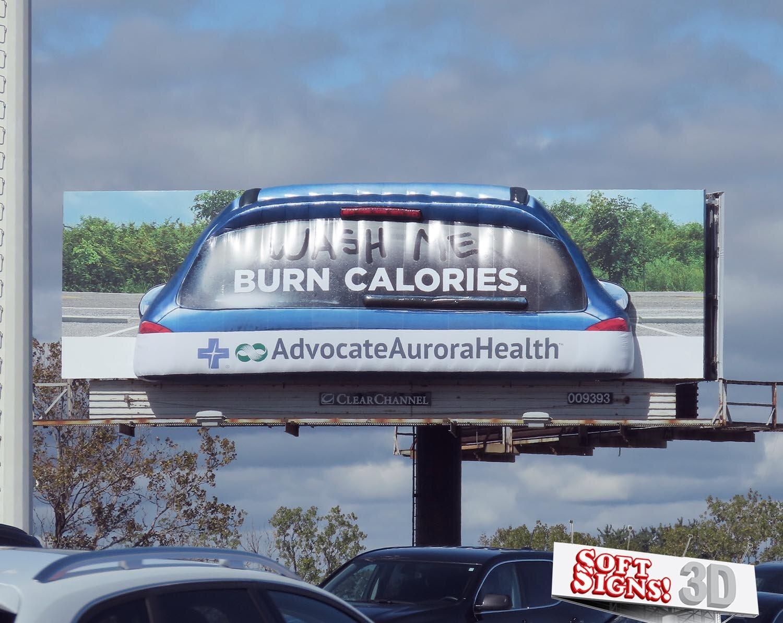 Advocate Aurora Health 3D Blue Car Billboard by Soft Signs 3D
