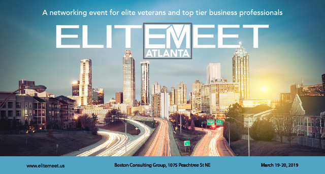 March 19 & 20 - EM veteran attendees will be given access to a variety of industries and career opportunities.Employers will be given access to the world's most elite military talent.Event includes:20+ hours of recruiting time for employers2 High End Networking Events for vets & select professionals2-Day Transition Seminar for EM vets