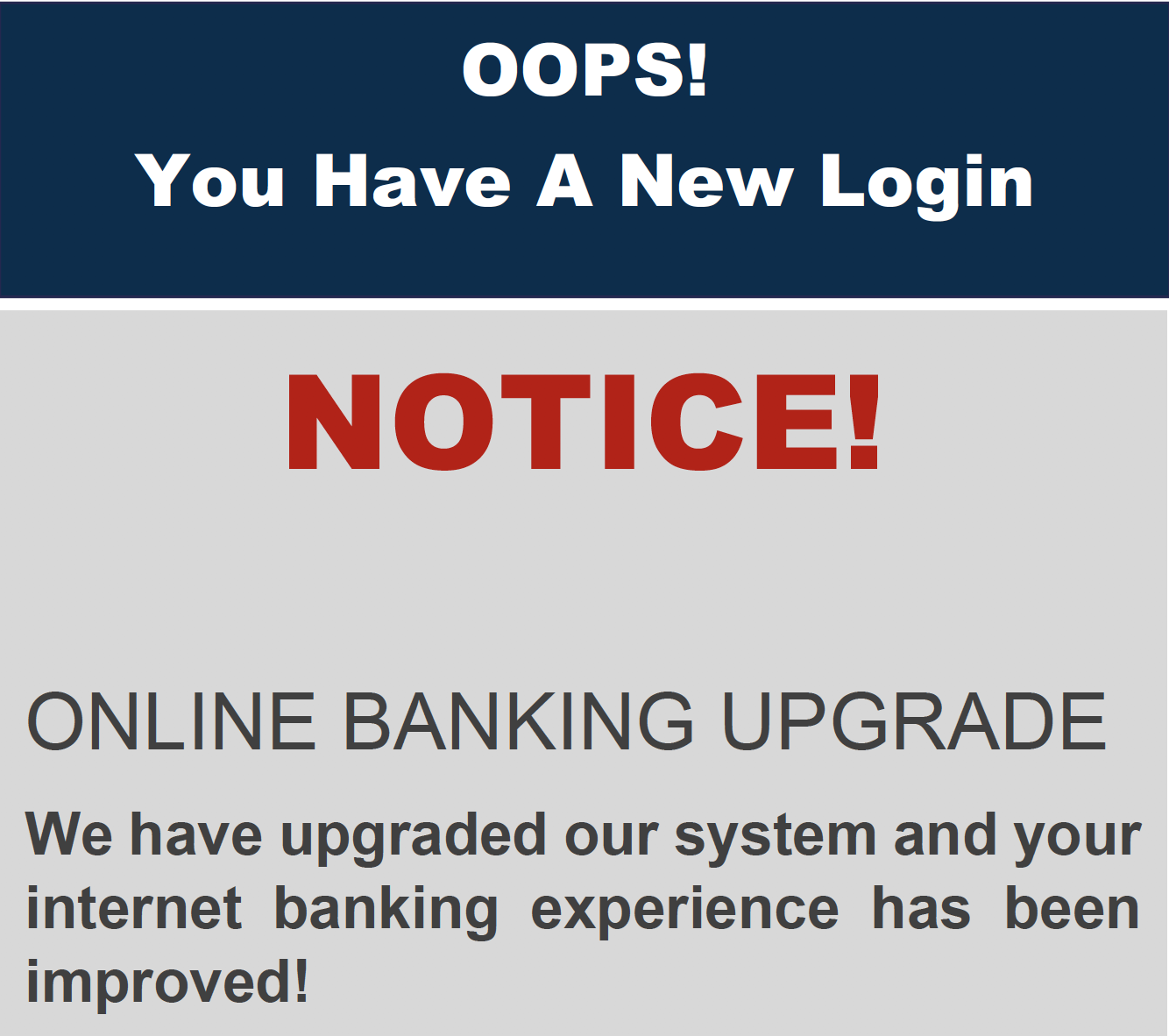 New Online Banking Instructions