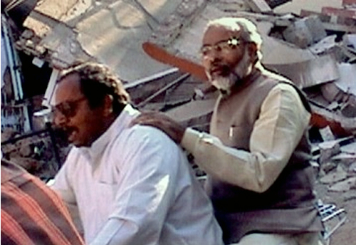Narendra Modi visiting affected areas