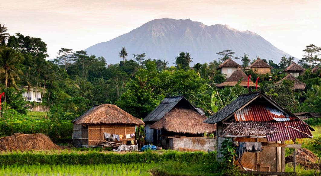 A remote jungle village in southeast asia