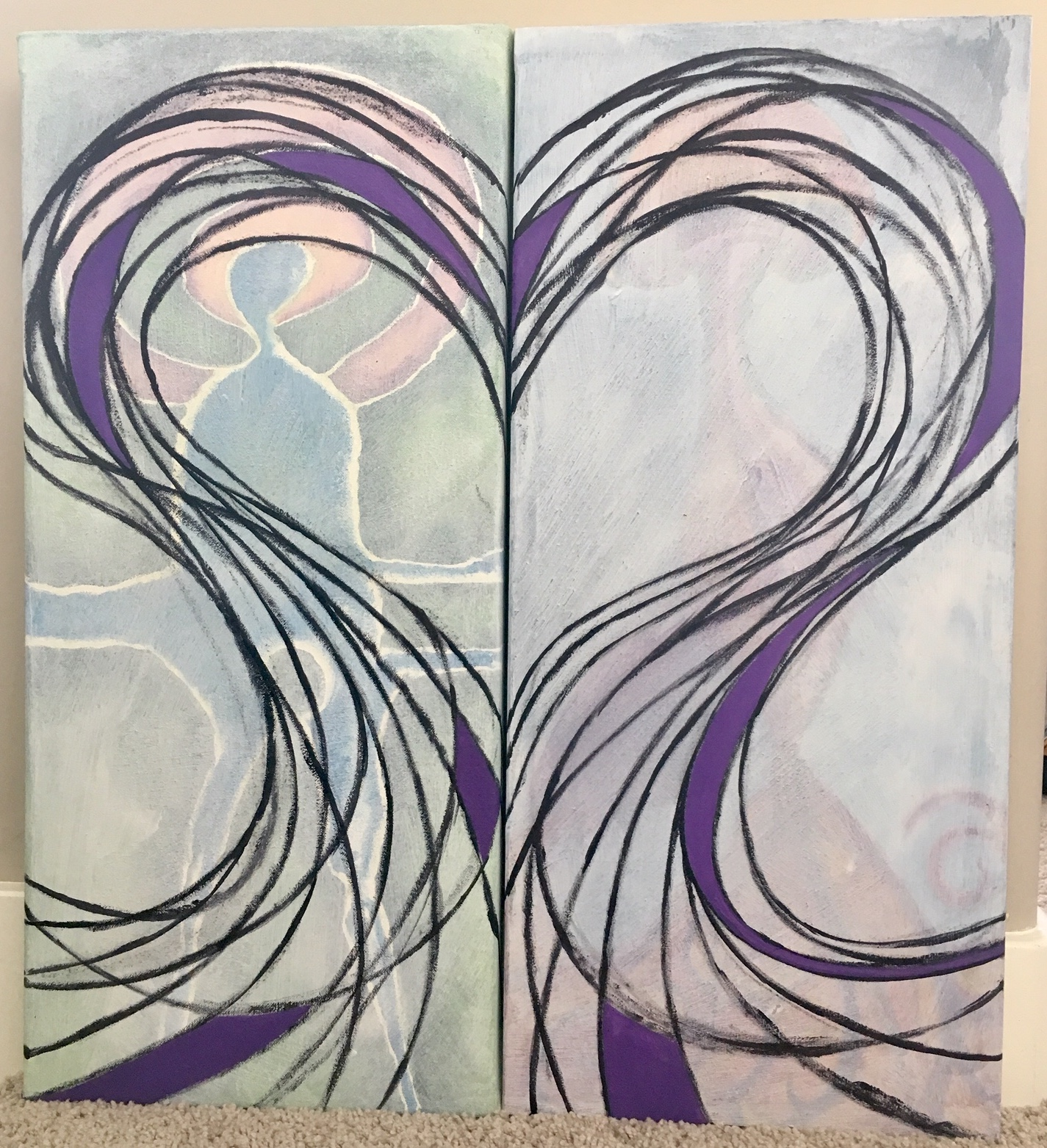 The upside of reflection - tendrils of rainbow hearts