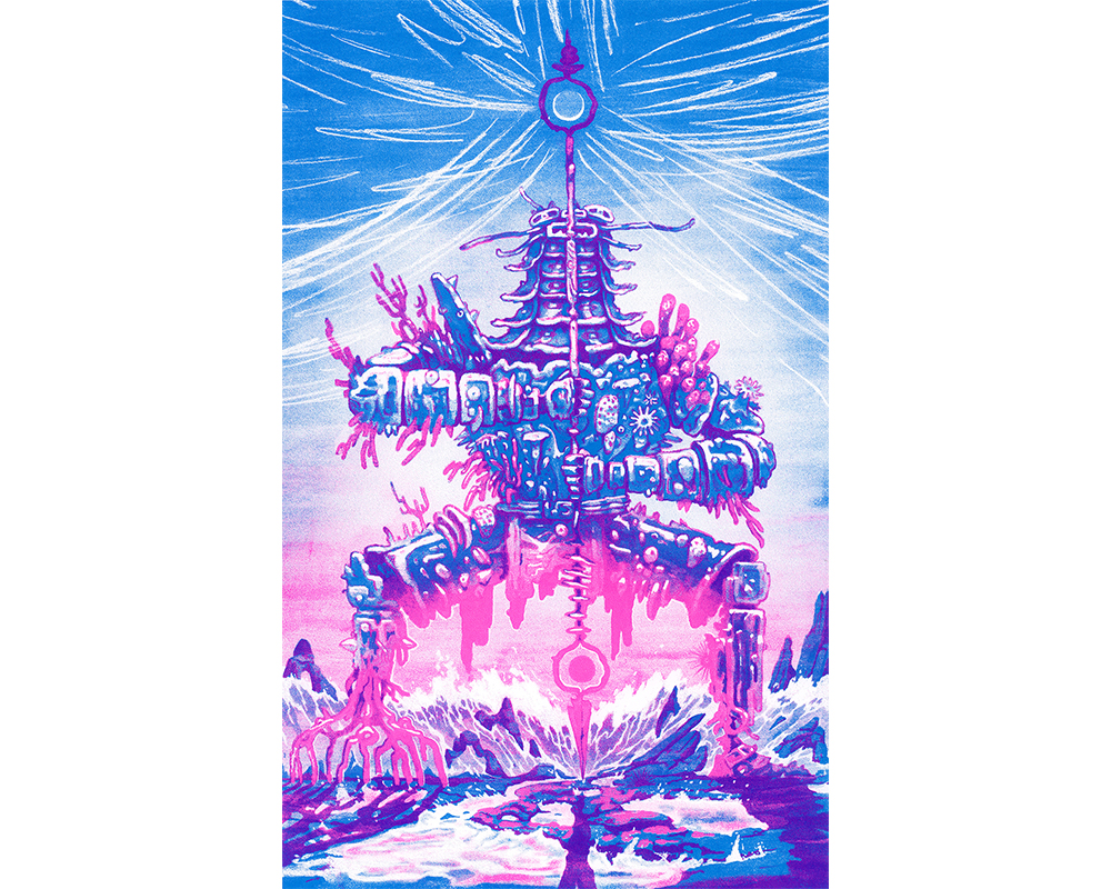 The Tidal Knight. 2 Colour Screen Print. 15x24. $60 + Shipping