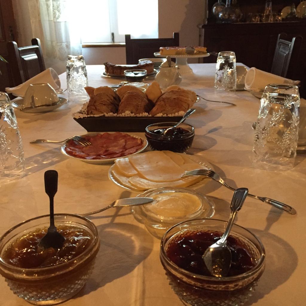 Pequeno almoço, ou café da manhã na Casa da Padaria