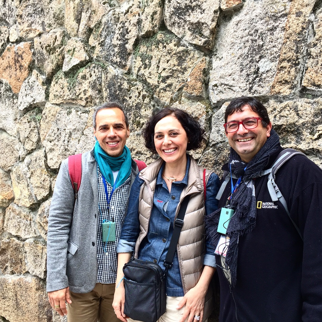 Carlos Solano, eu e João Fiandeiro, nosso guia historiador.