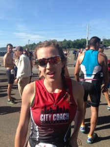 This is me, sans coffee. I also owed it to this blog to provide more unflattering race photos.