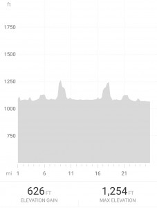 Bike elevation profile - only one hill