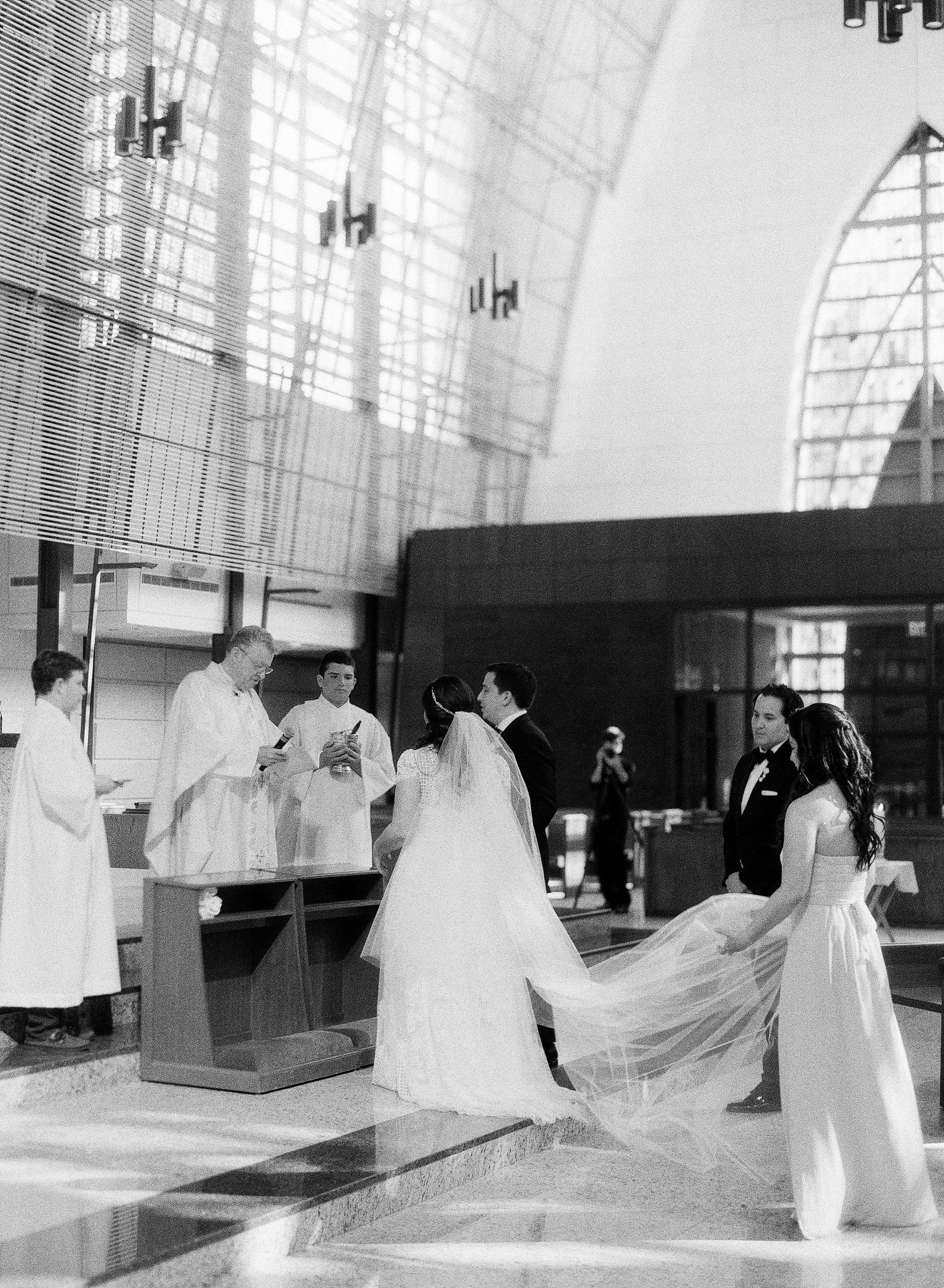 Traditional Wedding at Miami Catholic Church