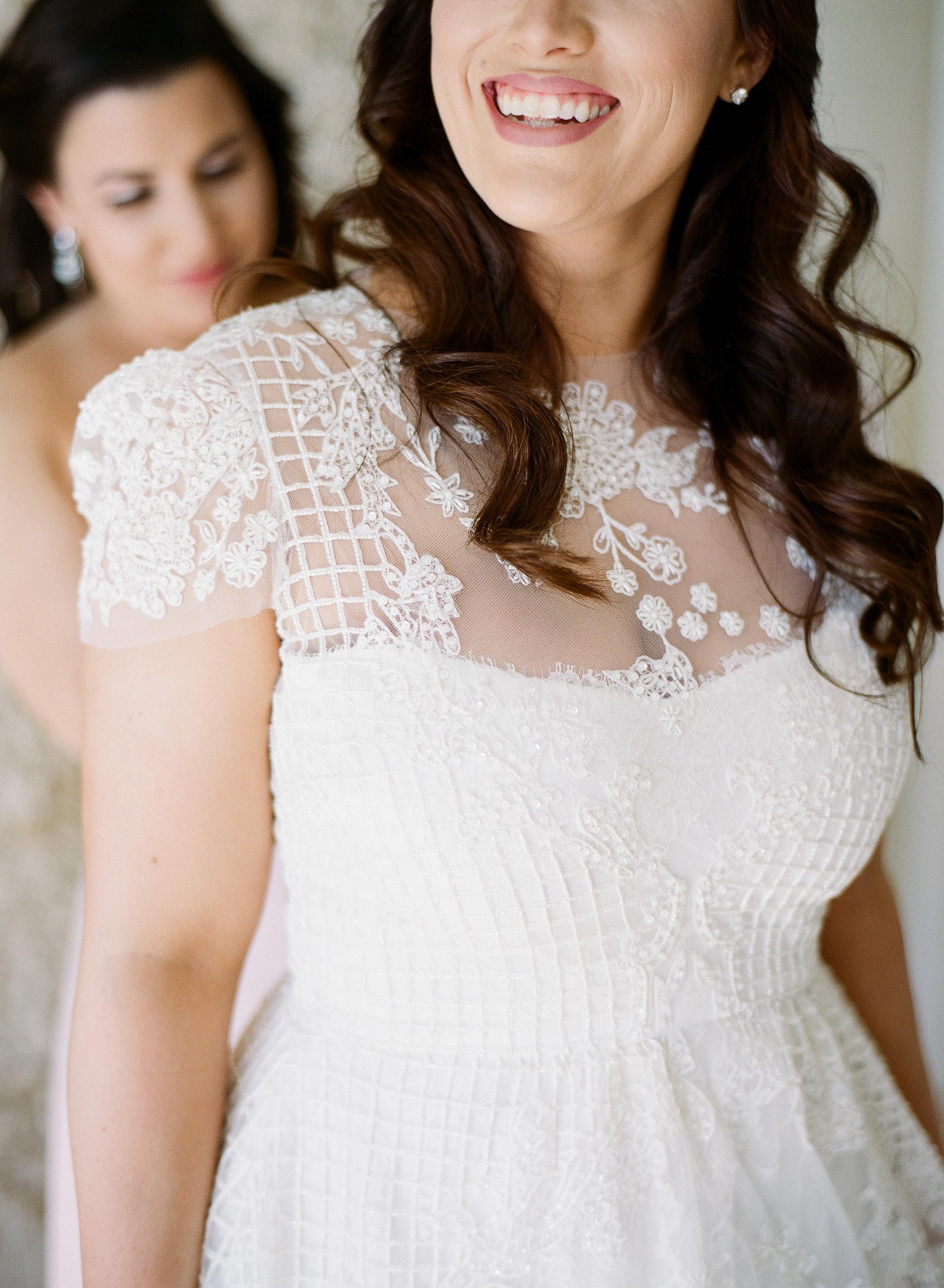 Monique Lhuillier Beaded Wedding Gown