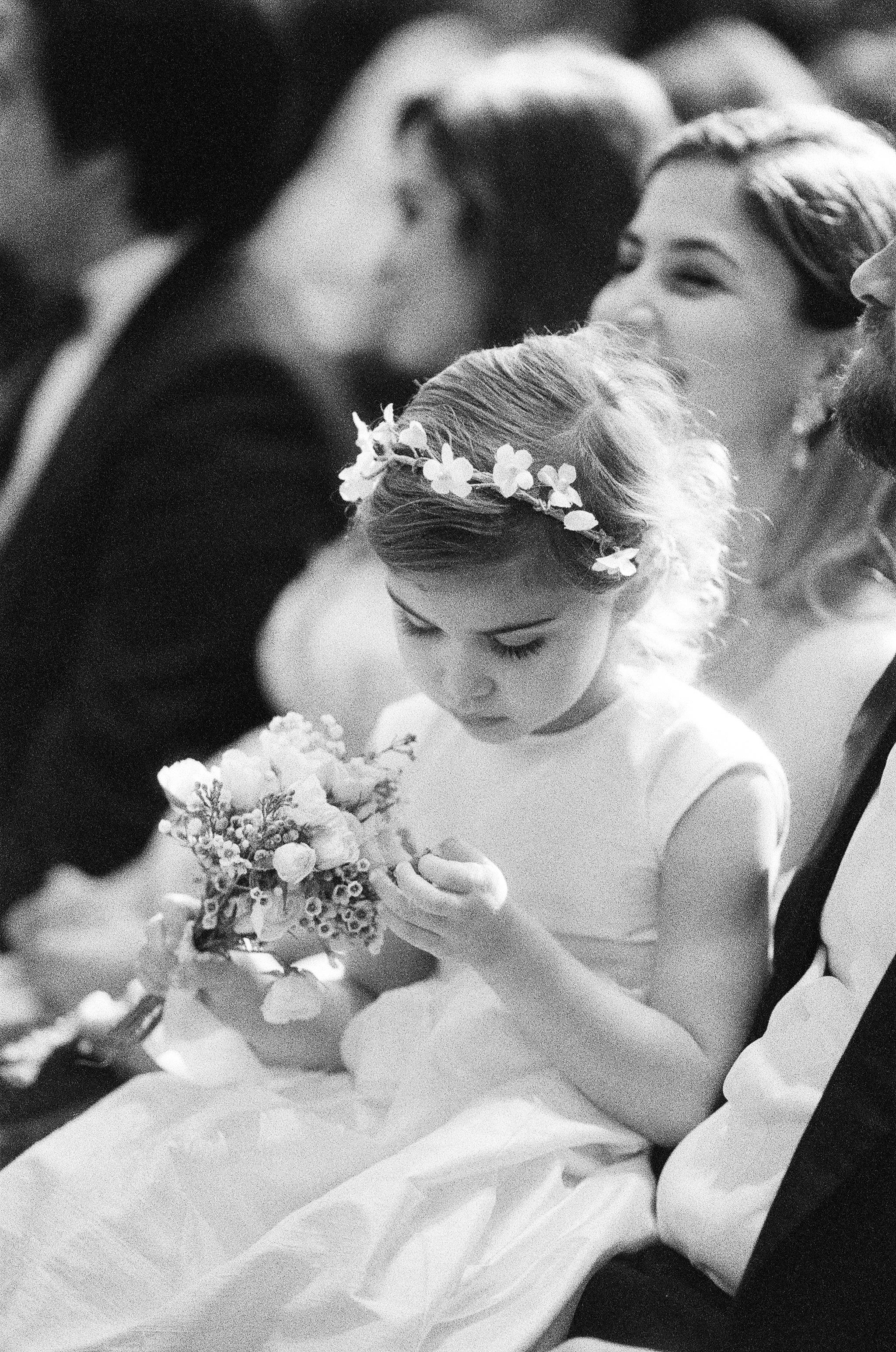 Flower girl in Oscar de la Renta dress