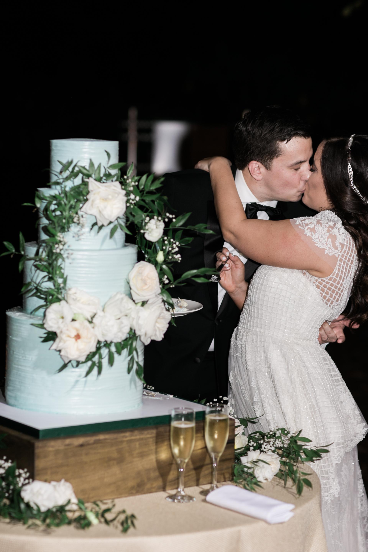 Floral Wreath Wedding Cake
