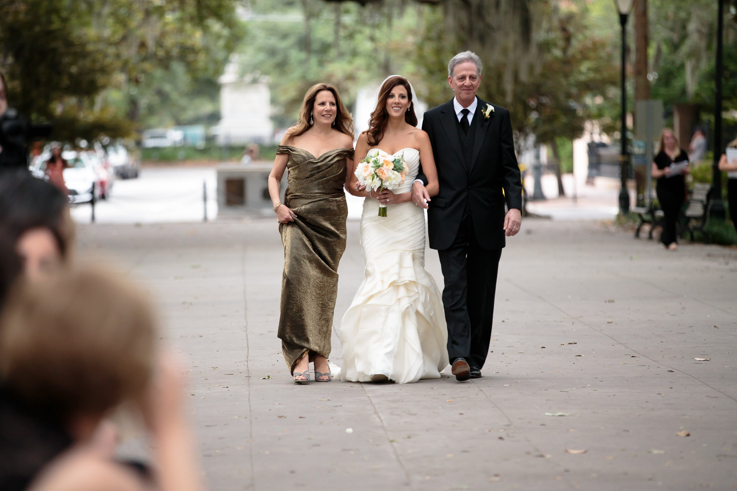 The world's longest processional - It took me at least 10 minutes to walk from the edge of the park to my hubs, which resulted in an excessive amount of pre-nuptial eye contact.