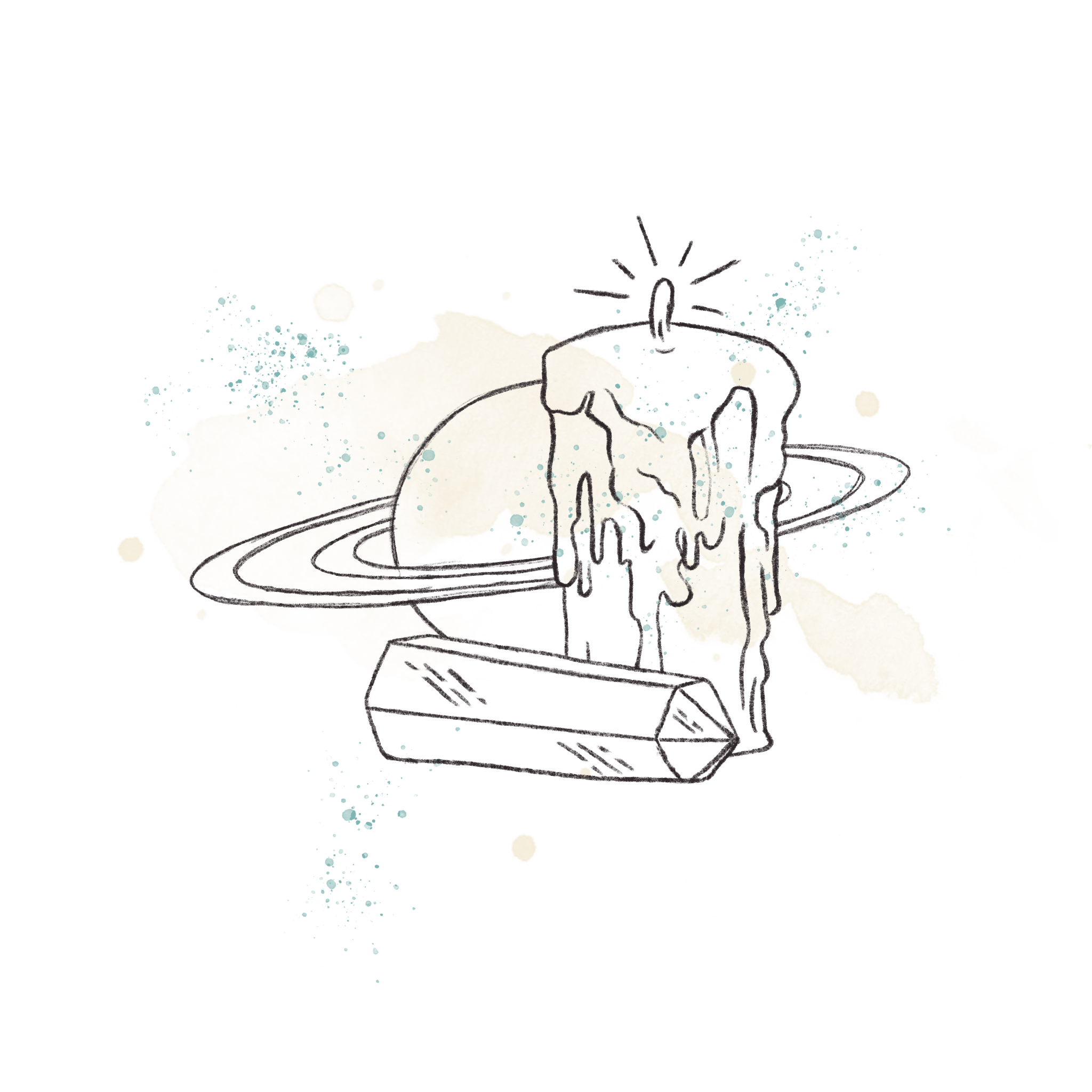 Sabrina Riccio Candle Crystal Illustration