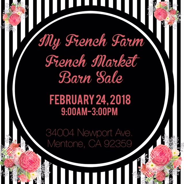 See you tomorrow at the next My French Farm Barn Sale! We will be serving food, grab a friend and shop & eat!  #vcgourmet #instagood #inlandempire #easthighland #redlands #highlandca #iefoodie #inlandempireexplorer #forkreport #chefmode #ForTheChefs #chefsofinstagram #chefsoninstagram #LAchefs #lafoodies #cheflife #eaterla #latimesfood #zagat #EatMunchies #spoonfeed #foodbeast #thisisinsider #insiderfood #eatfamous #buzzfeast #visitcalifornia #mychefstable
