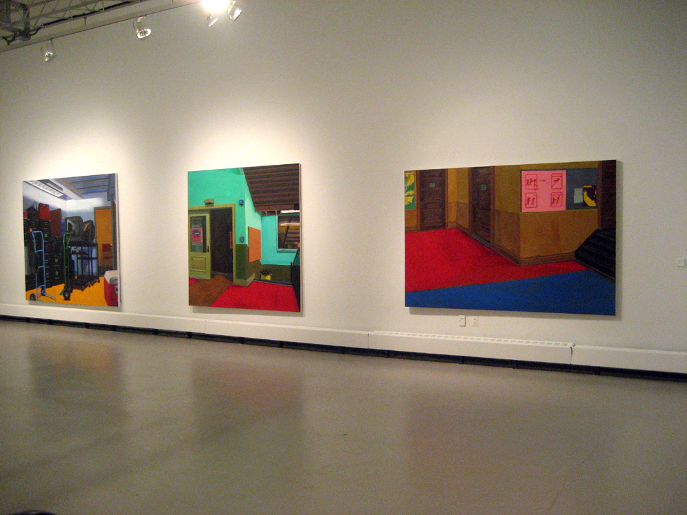 Installation view, paintings 2008