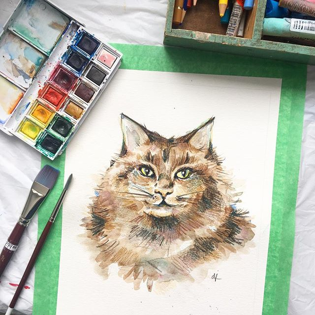 cat cafe painting class