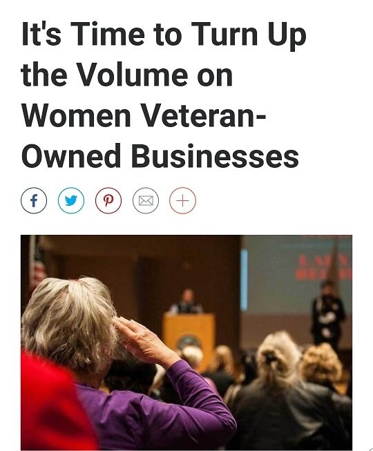 Read the full article - 1 Oct 2019Military.com   By VR SmallVR Small is a Navy veteran, founder and executive director for the Veteran Women's Enterprise Center (VWEC).