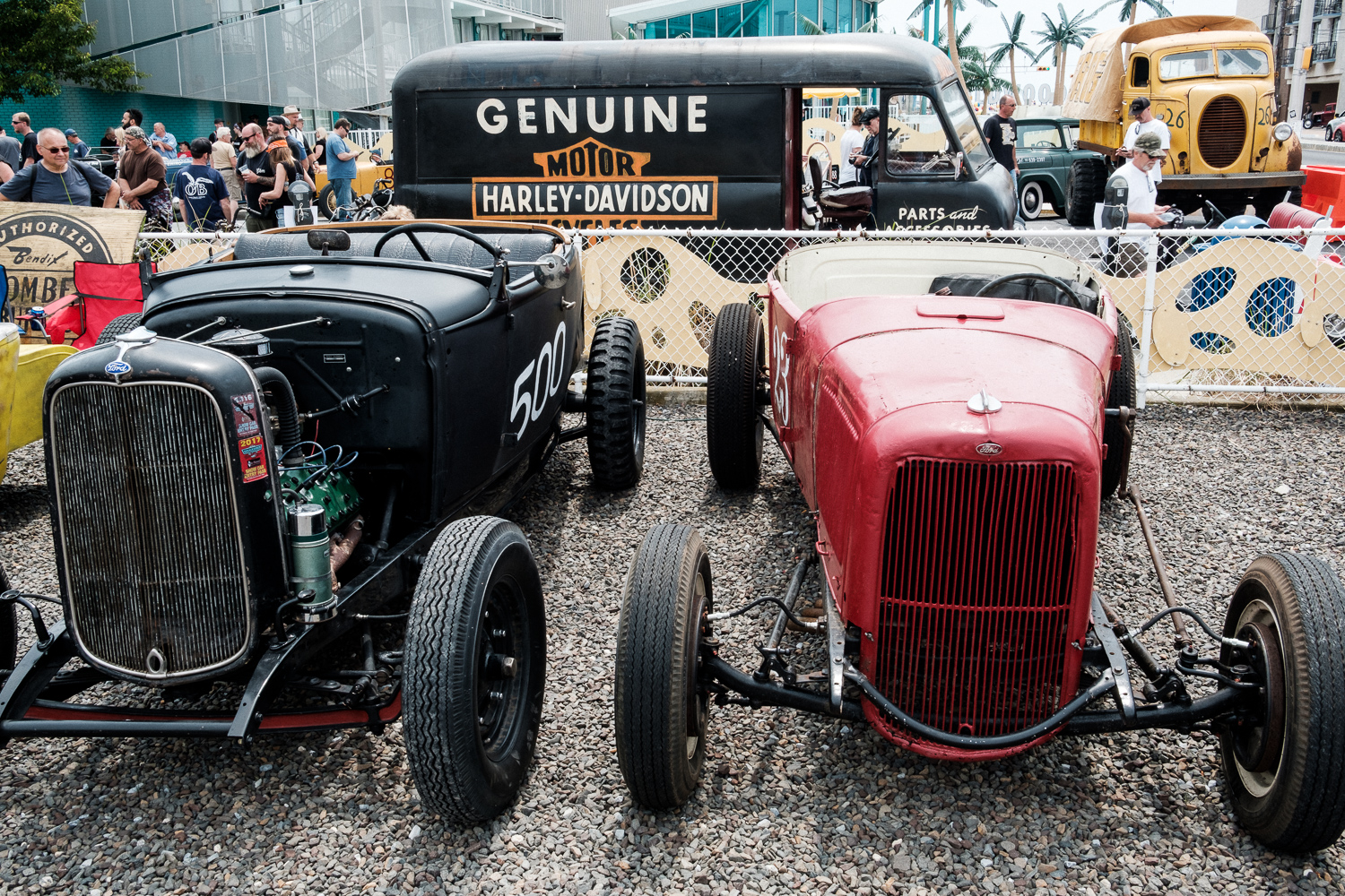 Cars ready to race at The Race of Gentlemen.
