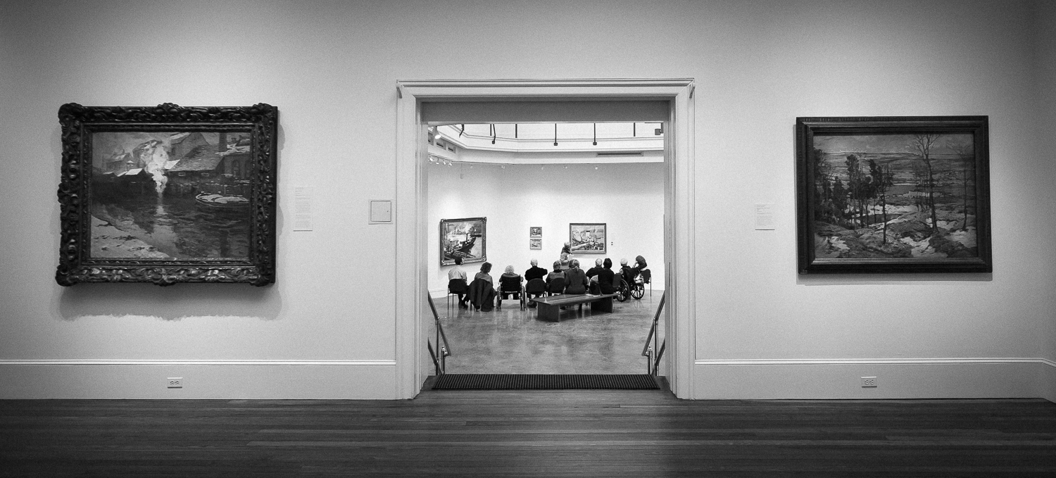 ARTZ conducting a session in one of the Woodmere's many galleries.