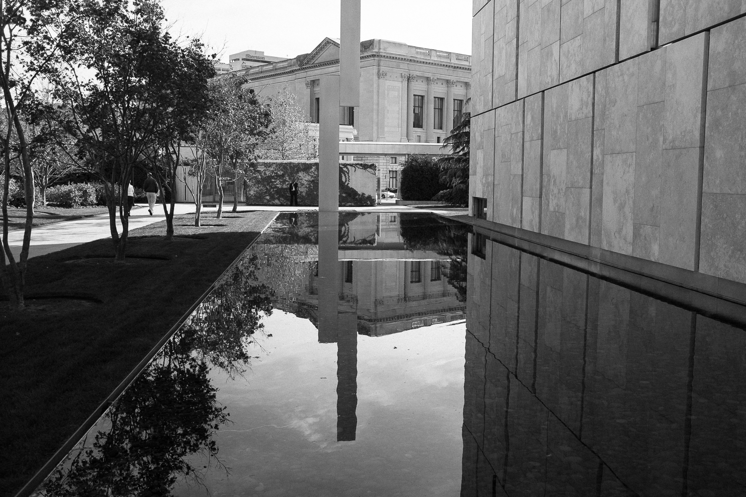 The Reflecting Pool at The Barnes Museum. Philadelphia's Barnes Museum houses one of the largest collections of Impressionist works in the world.