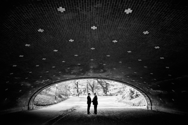 Under a bridge in Central Park
