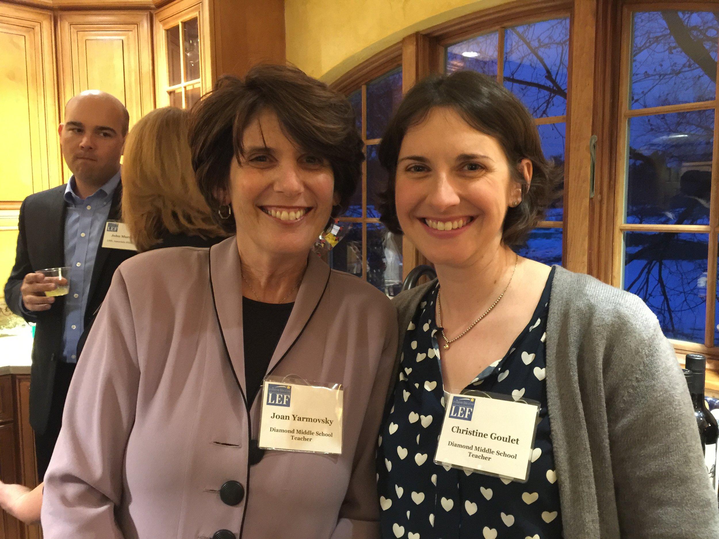 Joan Yarmousky & Christine Goulet, Diamond Middle School Teachers
