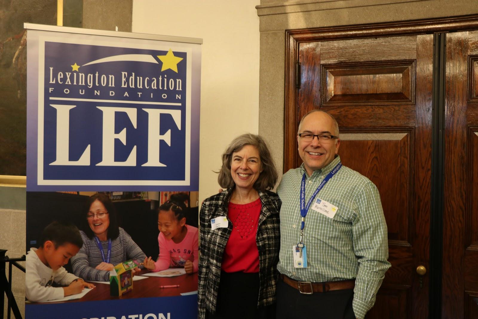 Photo of Louise Lipsitz and Tom Martellone courtesy of LHS student Sophia Sullivan