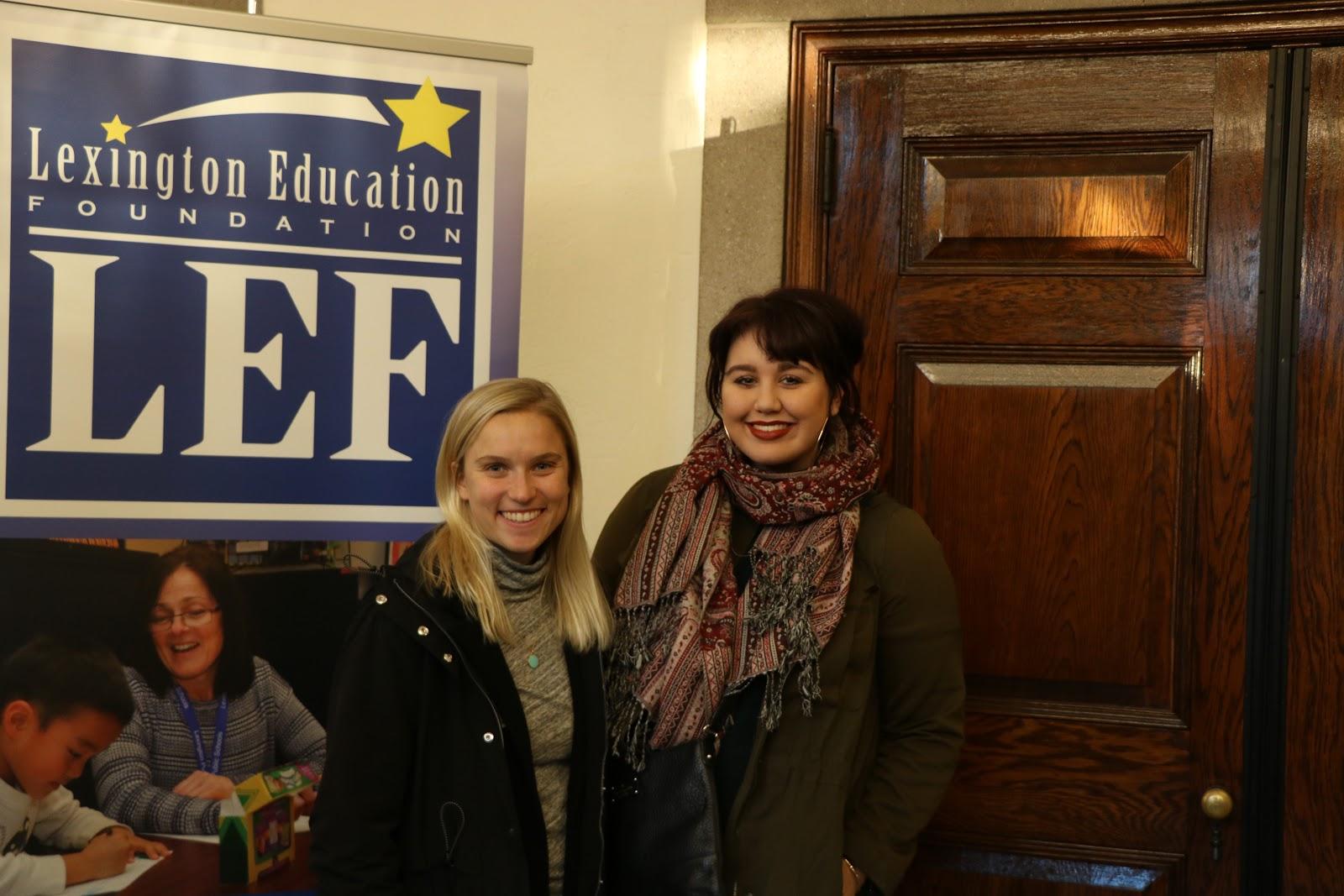 Photo of Taylor Liljegren and Samantha St. Lawrence courtesy of LHS student Sophia Sullivan