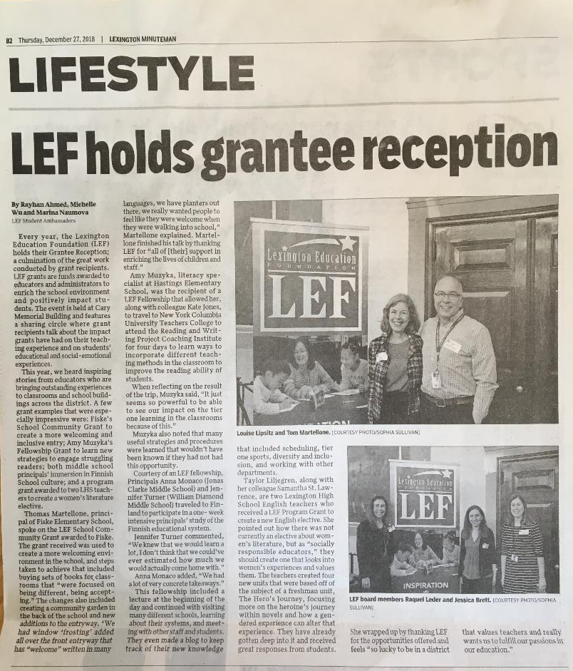 Article by LEF Student Ambassadors
