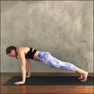 Plank Pose (Phalasana) Exhale & Inhale