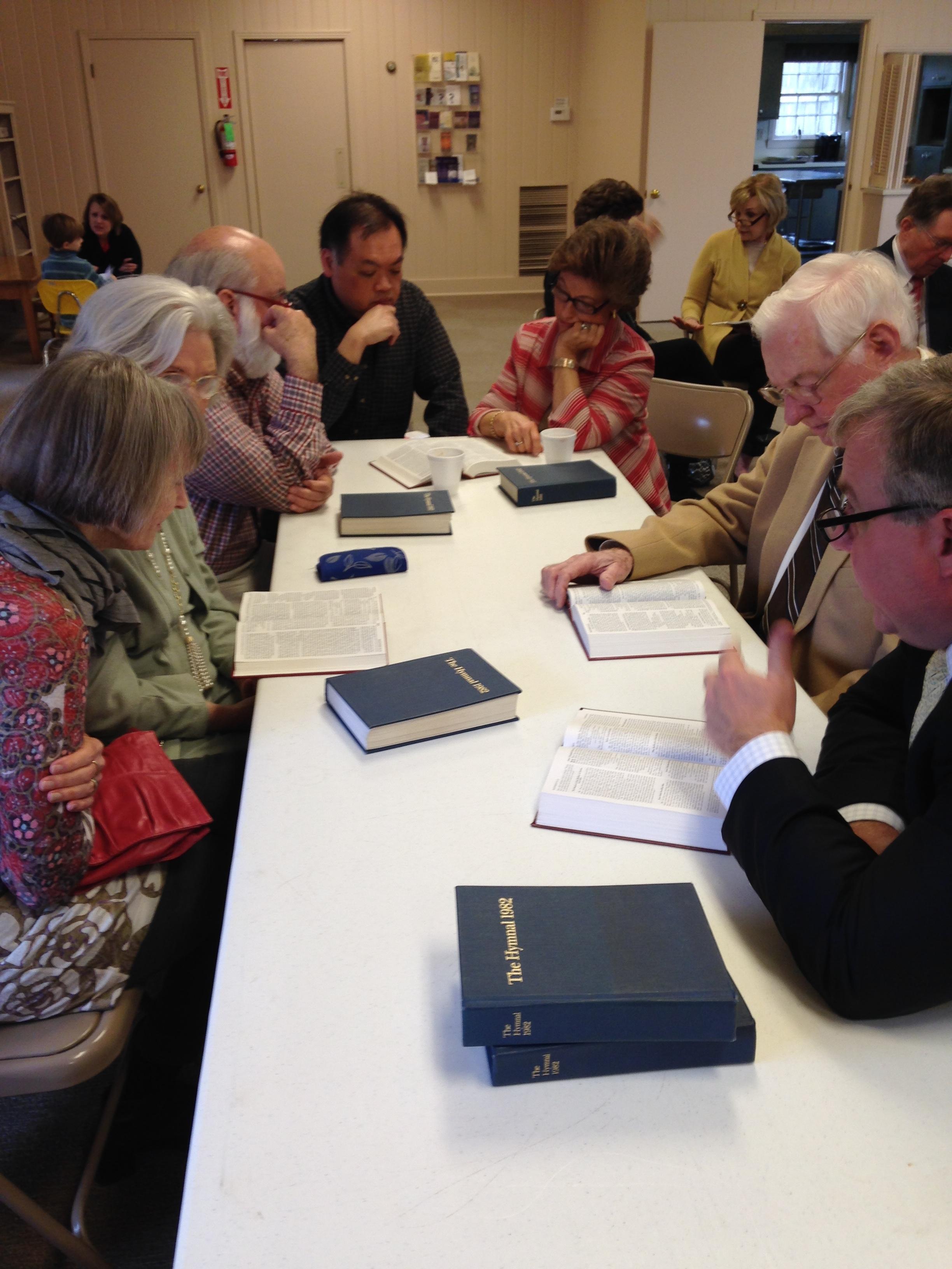 Intergenerational Sunday School Fills the Parish Hall