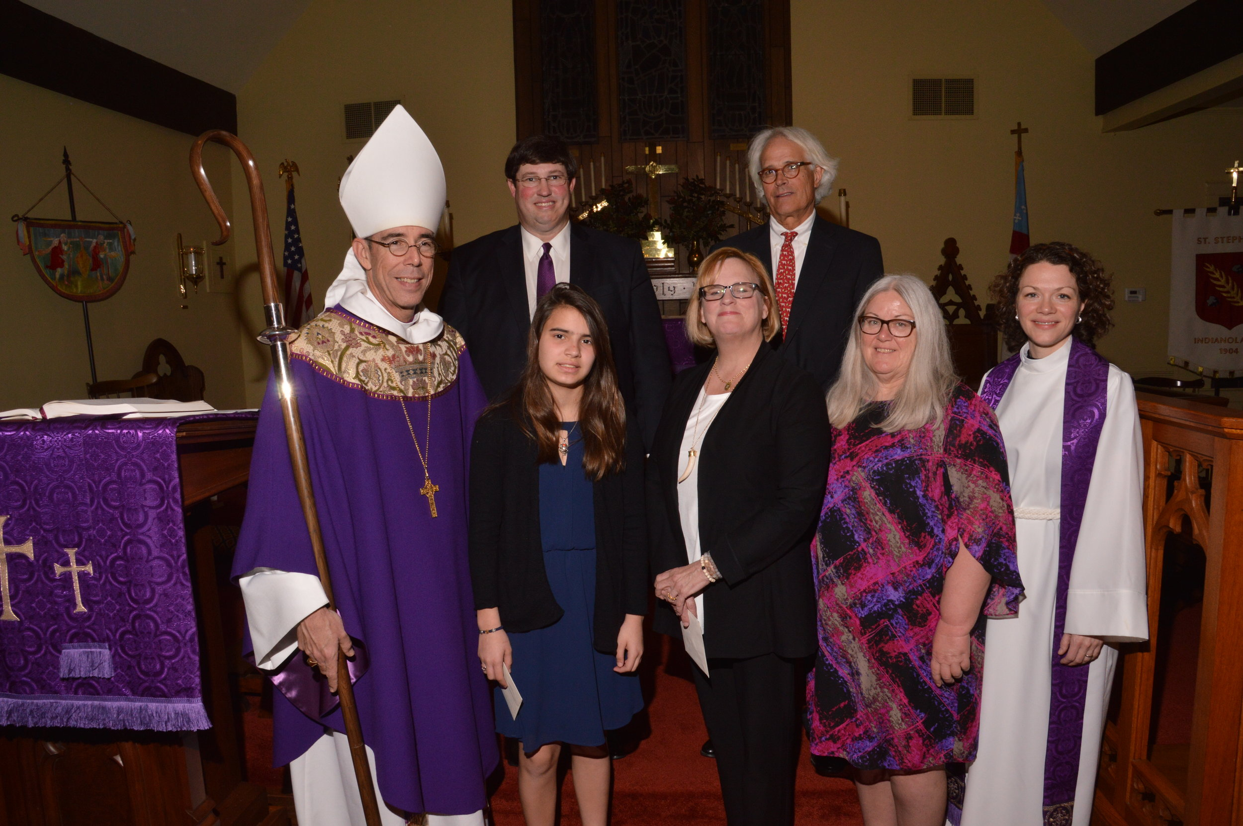 Bishop Brian Seage Confirms New Members at St. Stephen's