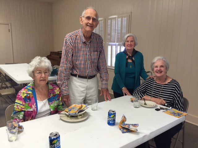 Fellowship in the Parish Hall During Fall Picnic