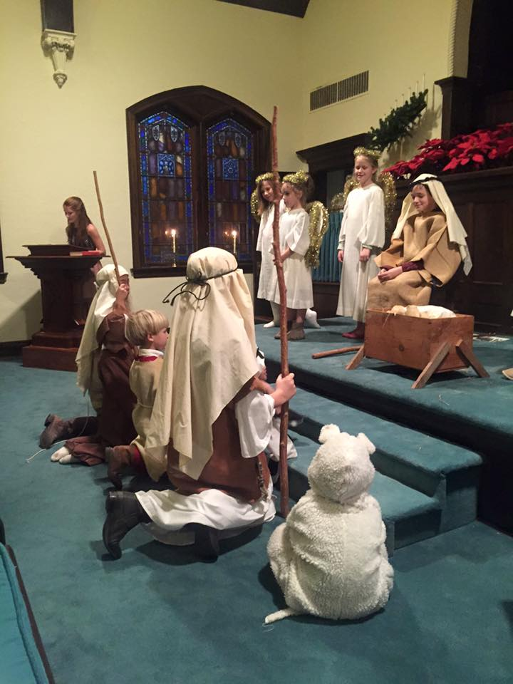 Performing Christmas Pageant at First Presbyterian Church