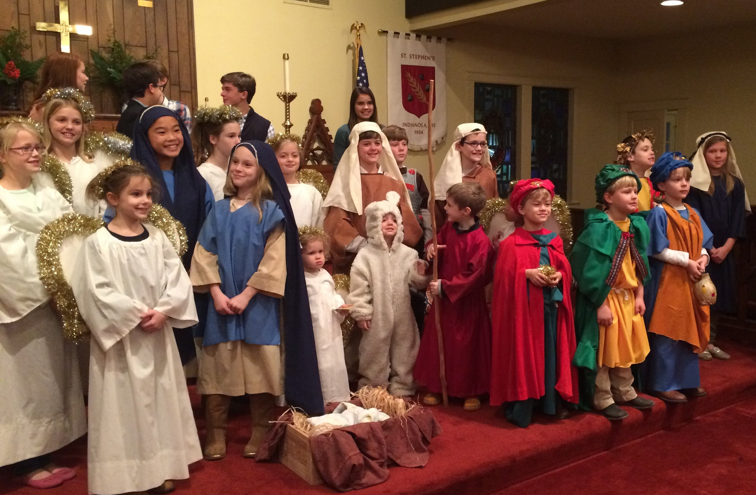 Group Picture of Christmas Pageant Participants
