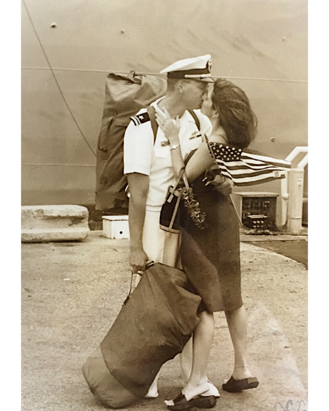 18 years ago, but a pic taken by another military spouse. Captured the essence of long deployments in a single shot.