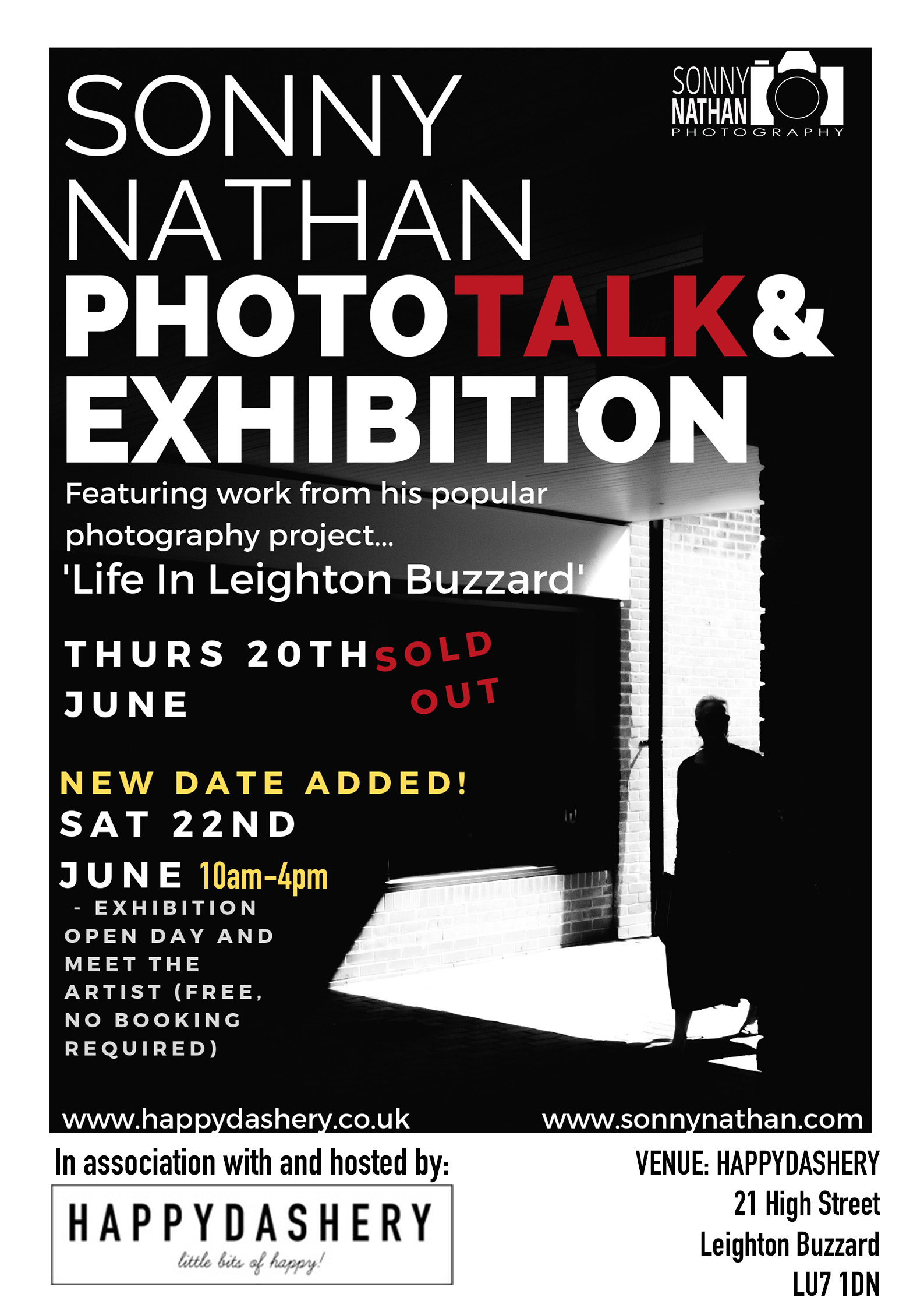 Exhibition and Photo-talk 20th June 2019, 7-9pm. - Exhibition open day and meet the artist, 22nd June 2019, 10am-4pm (free entry).
