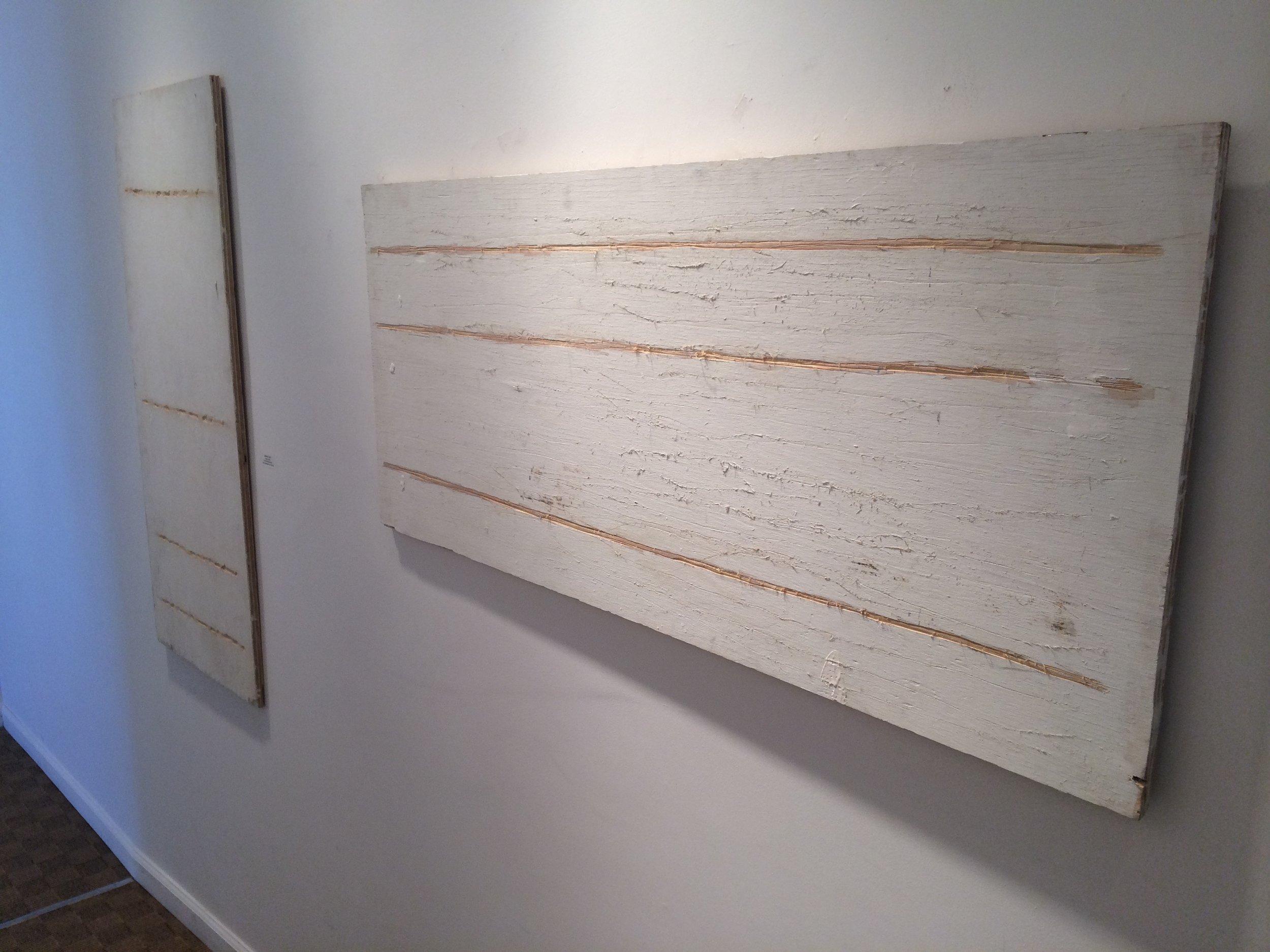 """Wood, Paint  34""""x18"""""""
