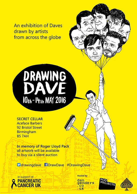 Drawing Dave Exhibition Poster