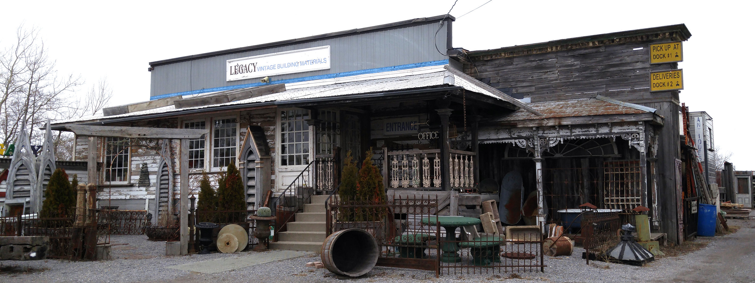 Legacy Vintage Building Materials and Antiques in Cobourg, Ontario.